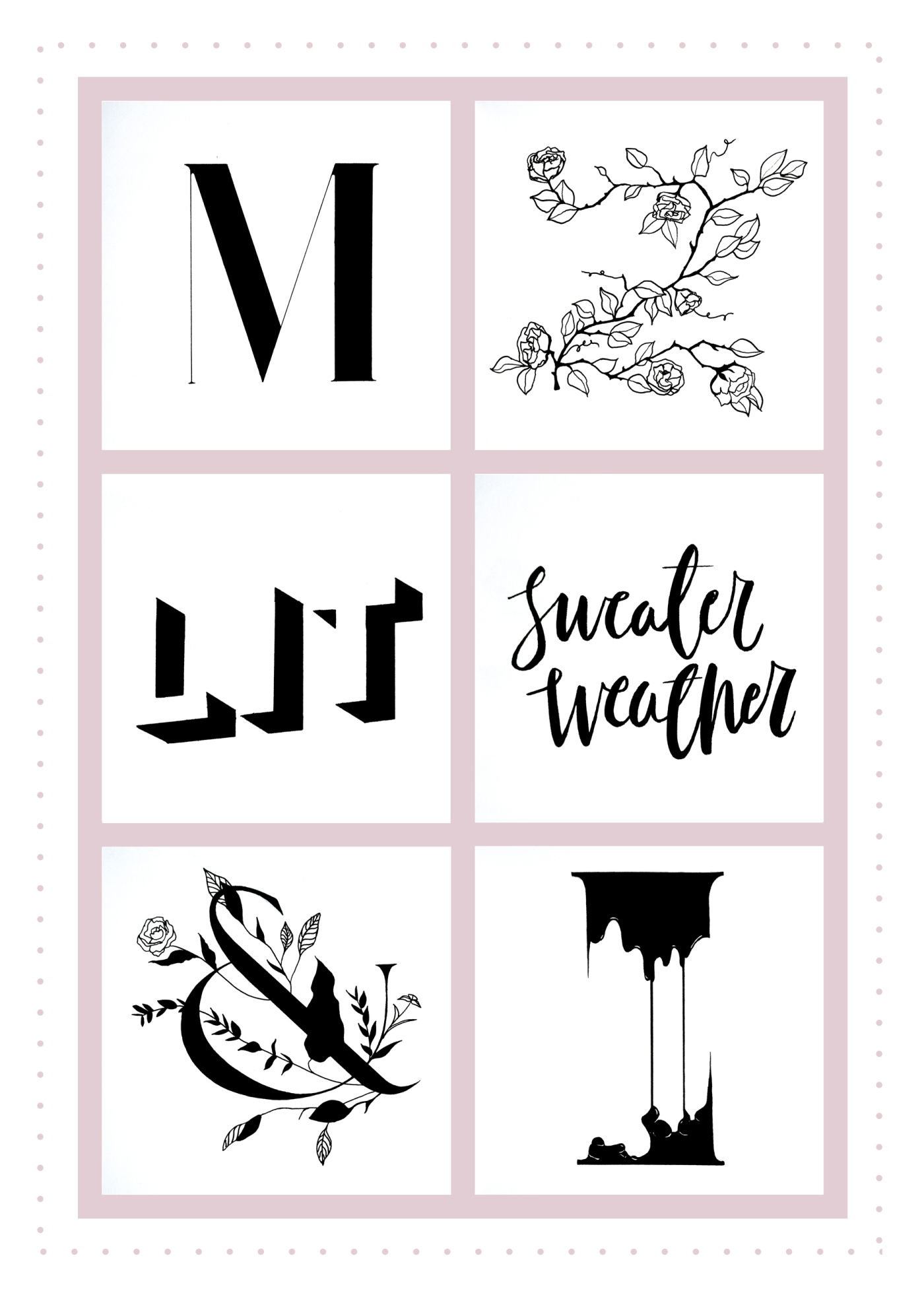 Creative typography and lettering designs
